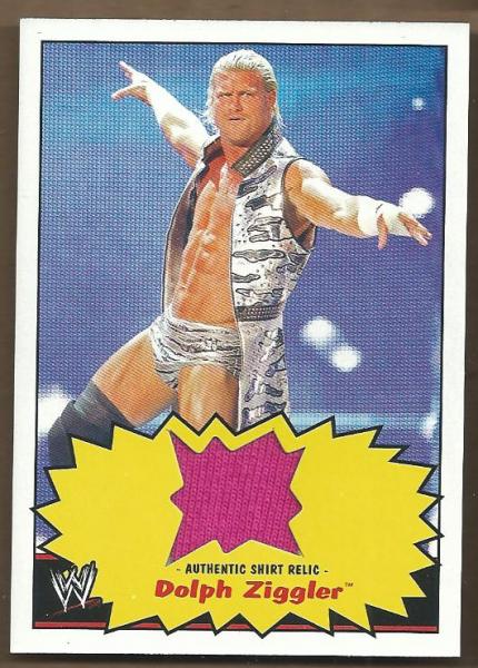 2012 Topps Heritage WWE Shirt Relics #6 Dolph Ziggler