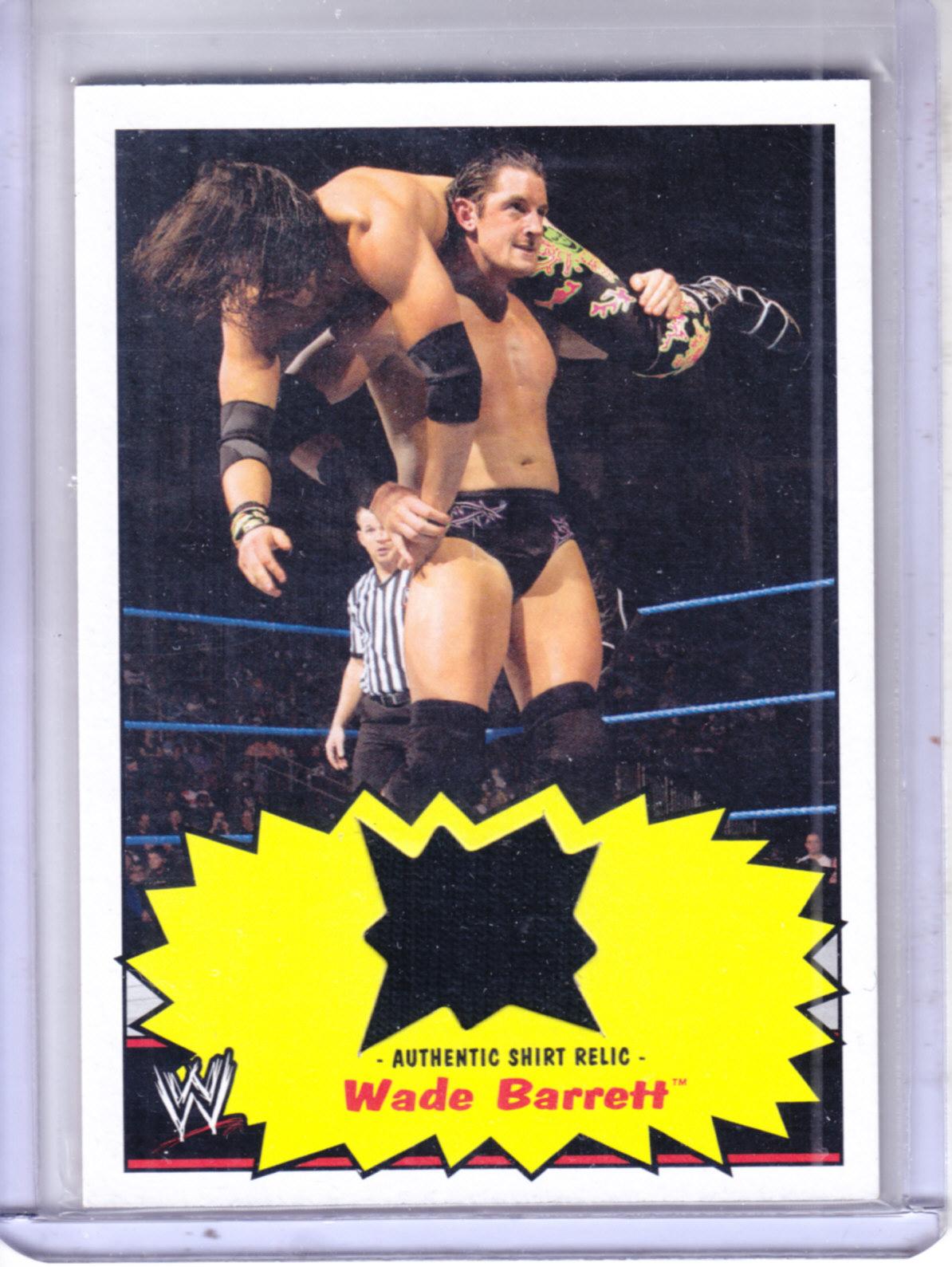 2012 Topps Heritage WWE Shirt Relics #17 Wade Barrett