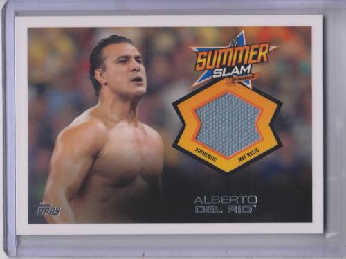 2013 Topps WWE SummerSlam Mat Relics #3 Alberto Del Rio
