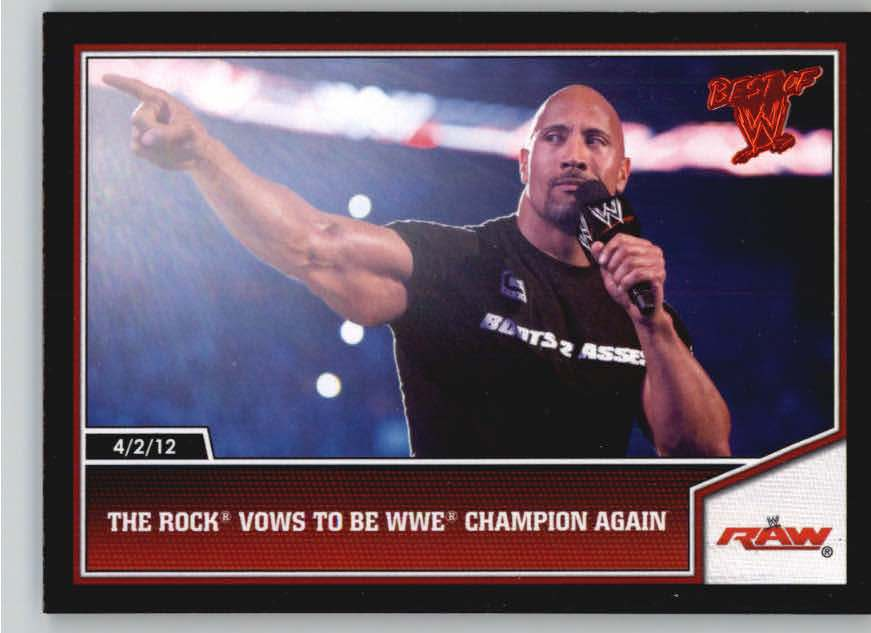 2013 Topps Best of WWE #1 The Rock Vows to be WWE Champion Again