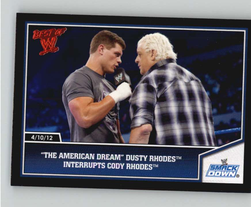2013 Topps Best of WWE #4 The American Dream Dusty Rhodes Interrupts Cody Rhodes