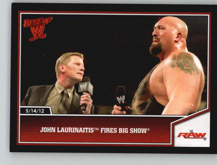 2013 Topps Best of WWE #13 John Laurinaitis Fires Big Show