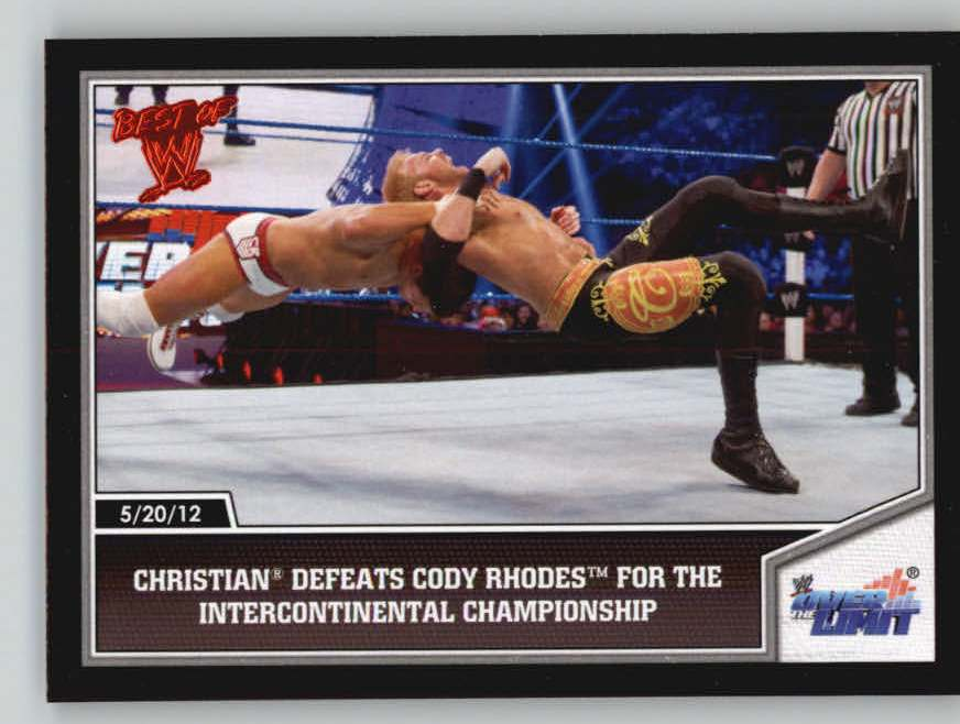 2013 Topps Best of WWE #14 Christian Defeats Cody Rhodes for the Intercontinental Championship