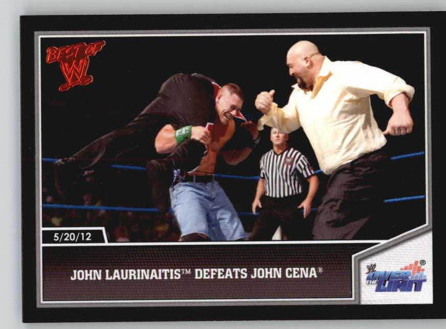 2013 Topps Best of WWE #15 John Laurinaitis Defeats John Cena