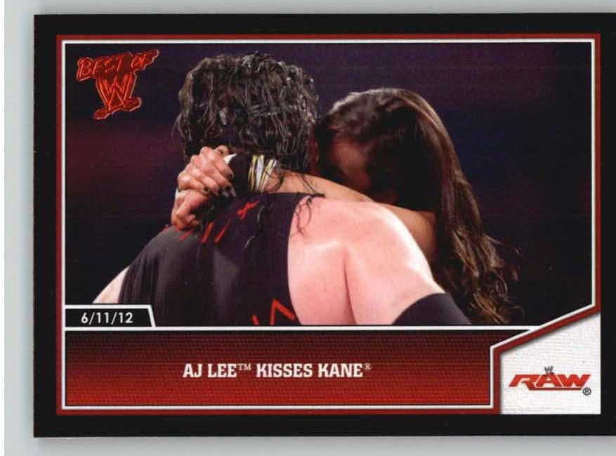 2013 Topps Best of WWE #16 AJ Lee Kisses Kane