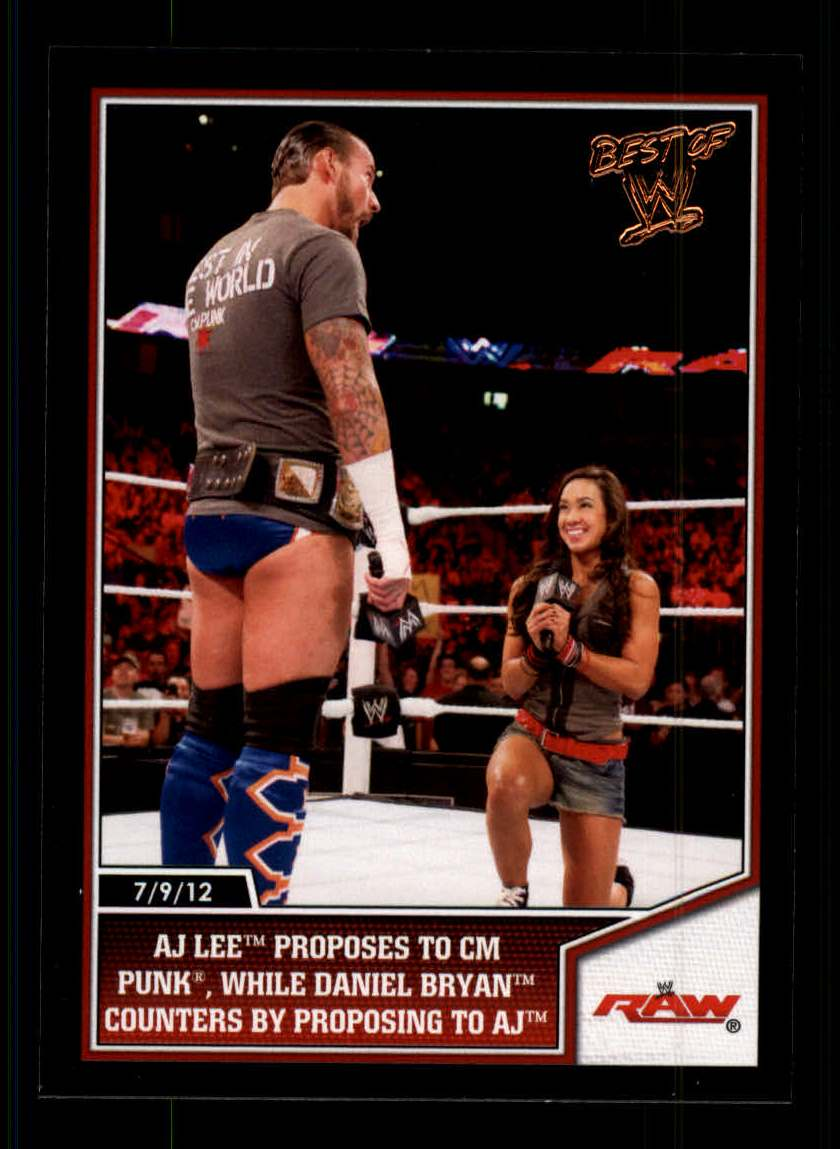 2013 Topps Best of WWE #21 AJ Lee Wins a Divas Summertime Beach Battle Royal
