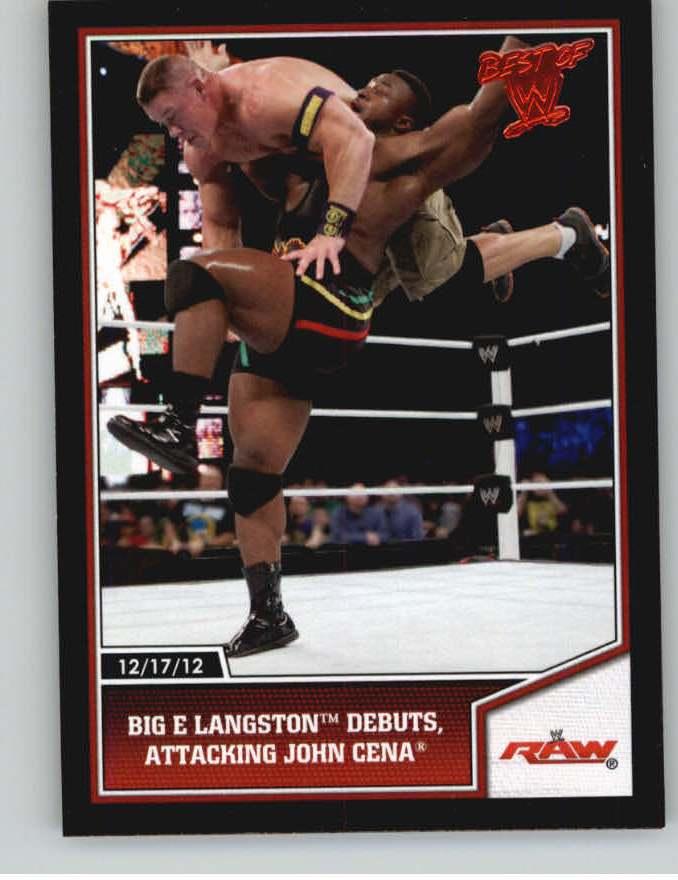 2013 Topps Best of WWE #70 Big E Langston Debuts, Attacking John Cena