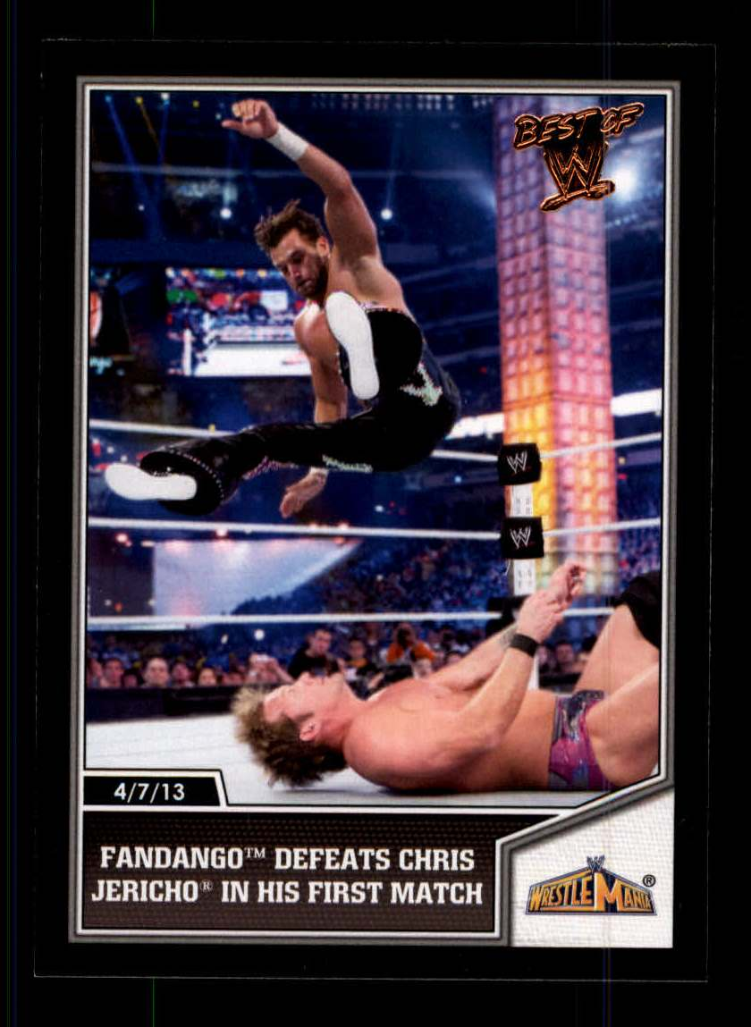 2013 Topps Best of WWE #107 Fandango Defeats Chris Jericho in his First Match