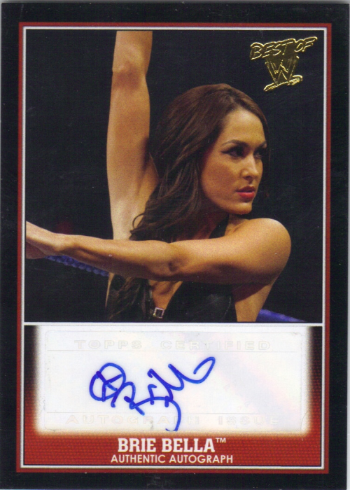 2013 Topps Best of WWE Autographs #3 Brie Bella