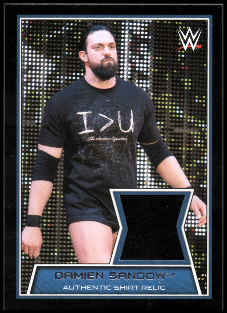 2014 Topps WWE Swatch Relics #4 Damien Sandow shirt