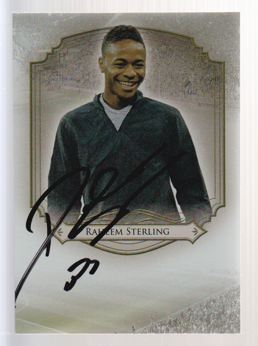2014 Futera World Football Unique Titans Autographs #T35 Raheem Sterling
