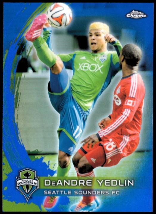 2014 Topps Chrome MLS Blue Refractors #77 DeAndre Yedlin