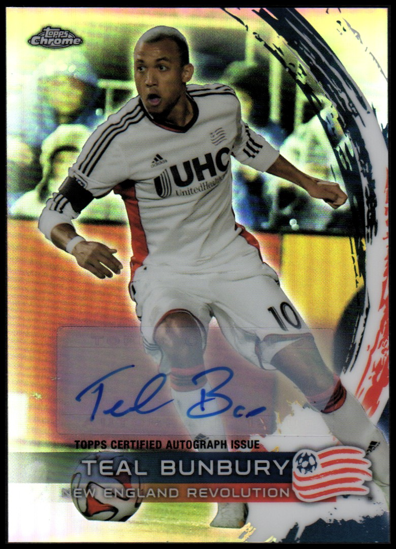 2014 Topps Chrome MLS Autographs #67 Teal Bunbury