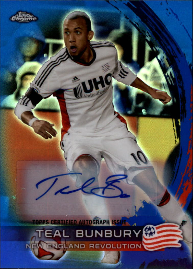 2014 Topps Chrome MLS Autographs Blue Refractors #67 Teal Bunbury