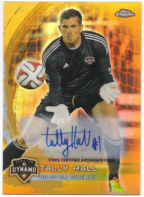2014 Topps Chrome MLS Autographs Gold Refractors #20 Tally Hall