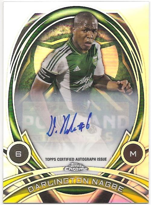 2014 Topps Chrome MLS In Form Autographs #IFADN Darlington Nagbe