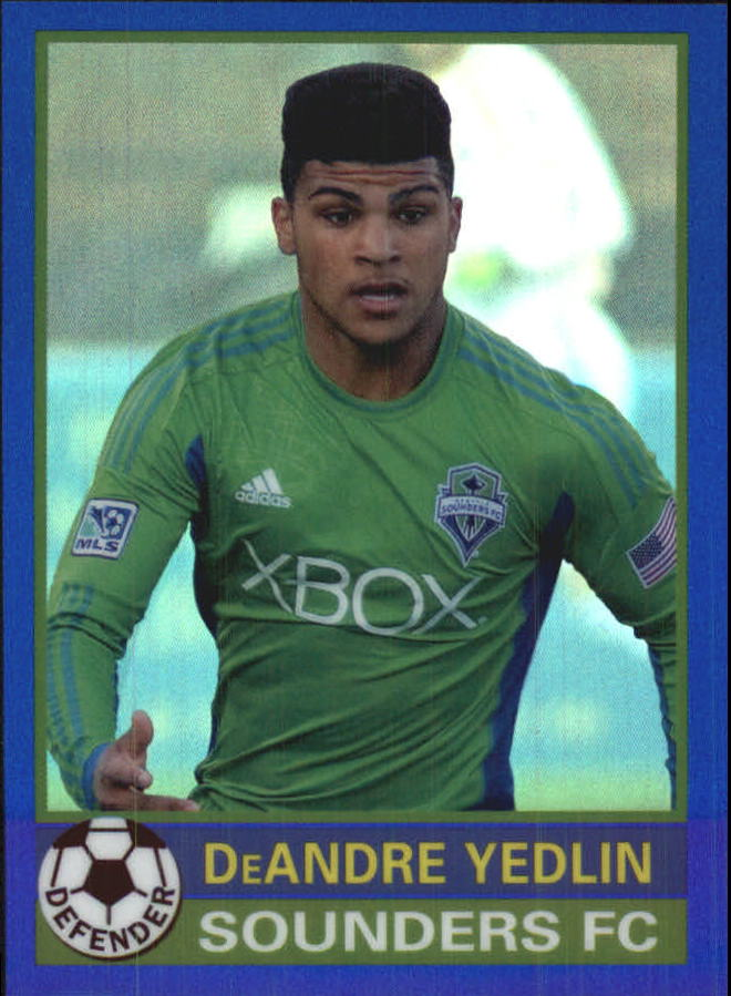 2014 Topps Chrome MLS '76-77 Footballer Mini Blue Refractors #7677DY DeAndre Yedlin