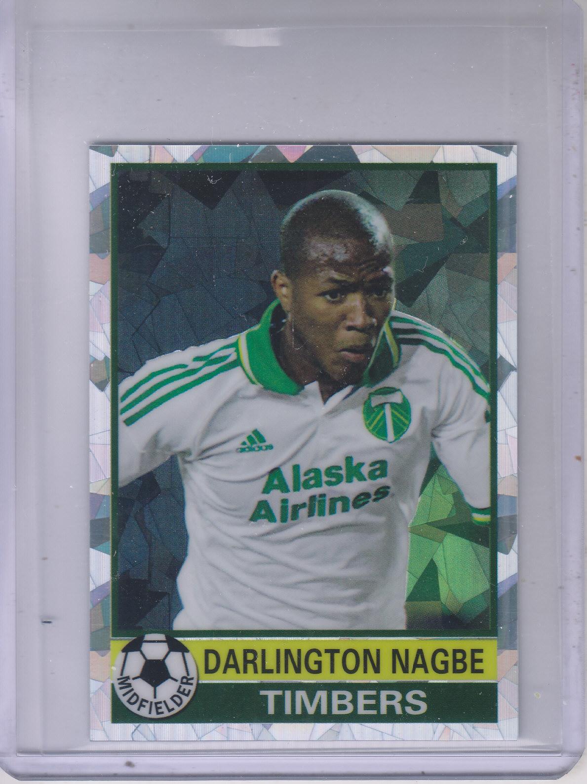 2014 Topps Chrome MLS '76-77 Footballer Mini Atomic Refractors #7677DN Darlington Nagbe