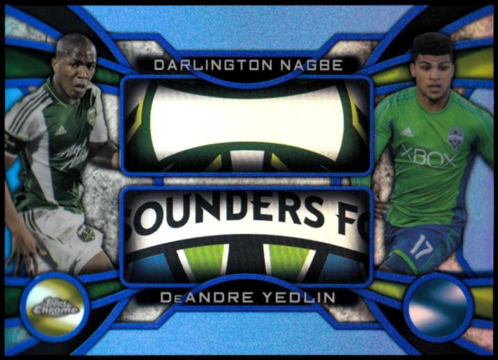 2014 Topps Chrome MLS One Two Blue Refractors #OTNY DeAndre Yedlin/Darlington Nagbe