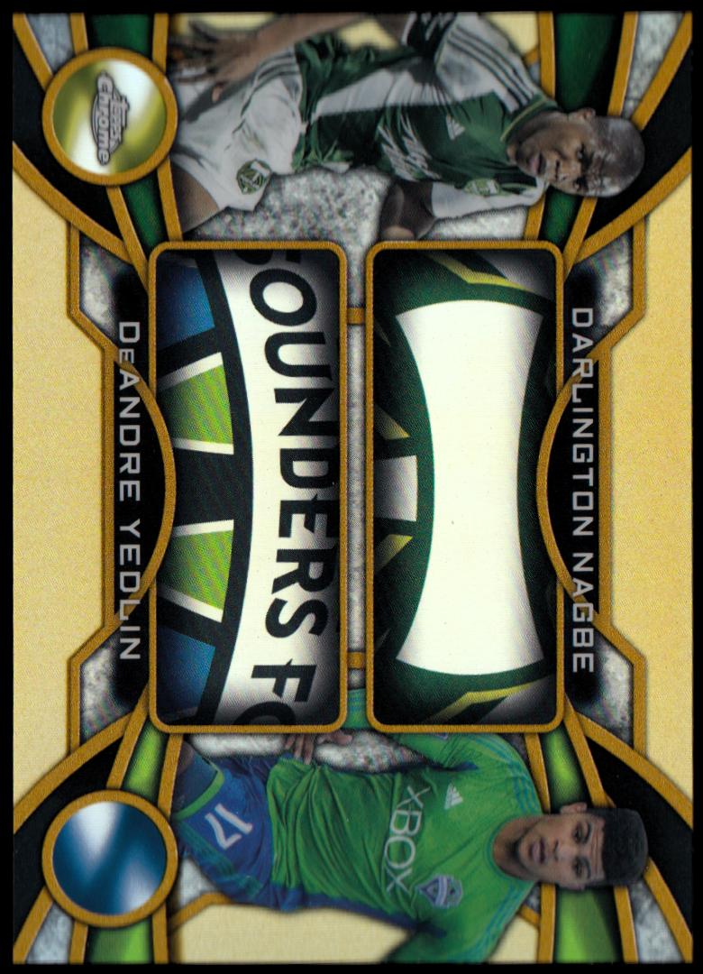 2014 Topps Chrome MLS One Two Gold Refractors #OTNY DeAndre Yedlin/Darlington Nagbe
