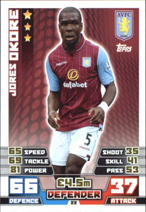 2014-15 Topps Match Attax English Premier League #22 Jores Okore