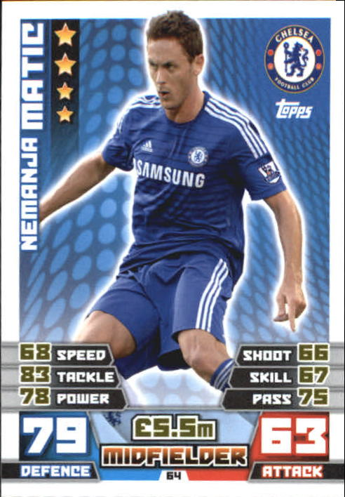2014-15 Topps Match Attax English Premier League #64 Nemanja Matic