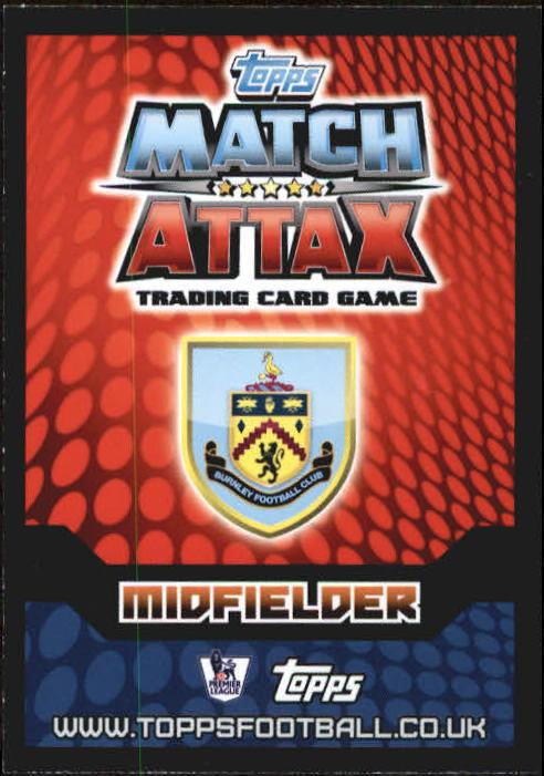 2014-15 Topps Match Attax English Premier League #88 Marouane Chamakh back image