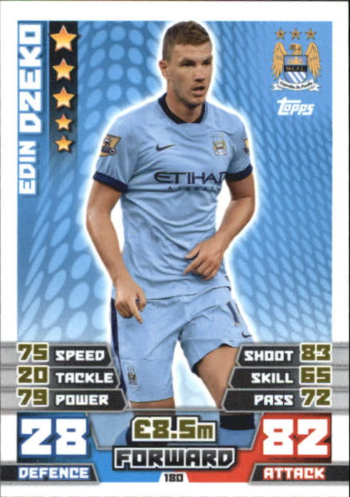 2014-15 Topps Match Attax English Premier League #180 Edin Dzeko