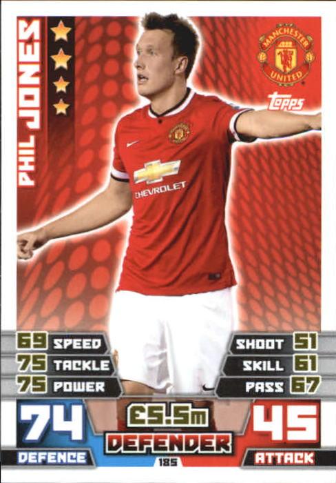 2014-15 Topps Match Attax English Premier League #185 Phil Jones