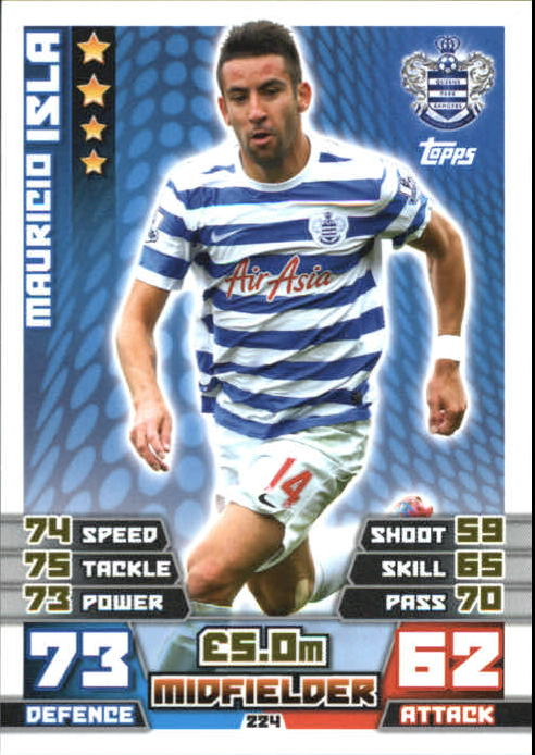 2014-15 Topps Match Attax English Premier League #224 Mauricio Isla