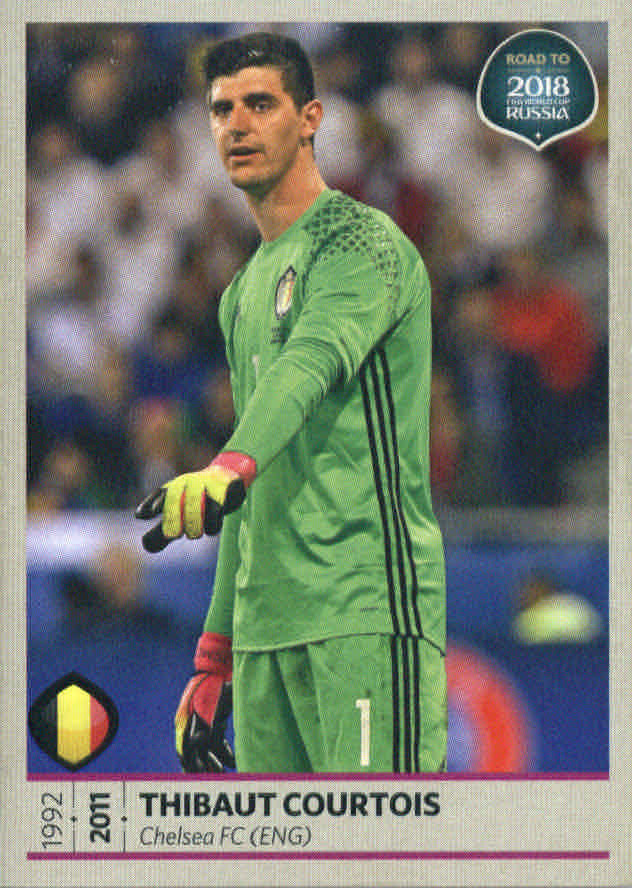 f983117efa7 2017 Panini Road to FIFA World Cup Russia Stickers  1 Thibaut Courtois