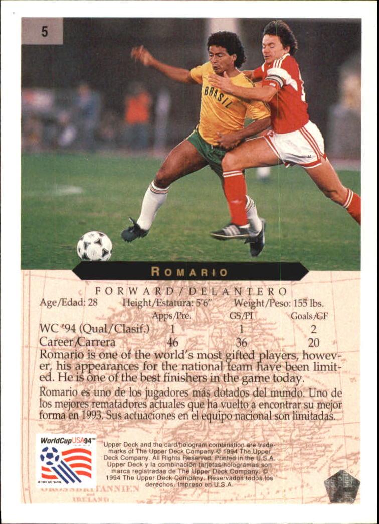 1994 Upper Deck World Cup Minute Maid Romario #5