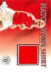 2002 Upper Deck Manchester United Legends Match Worn Shirts #DBS David Beckham