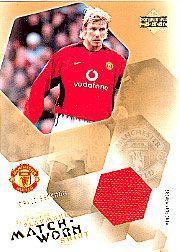 2003 Upper Deck Manchester United Mini Playmakers Match Worn Shirts #1 David Beckham/250