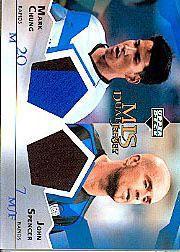 2004 Upper Deck MLS Jerseys Dual #MCJS Mark Chung/John Spencer