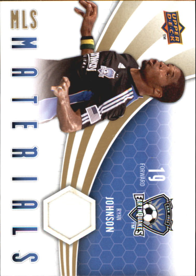 2010 Upper Deck MLS Materials #RJ Ryan Johnson