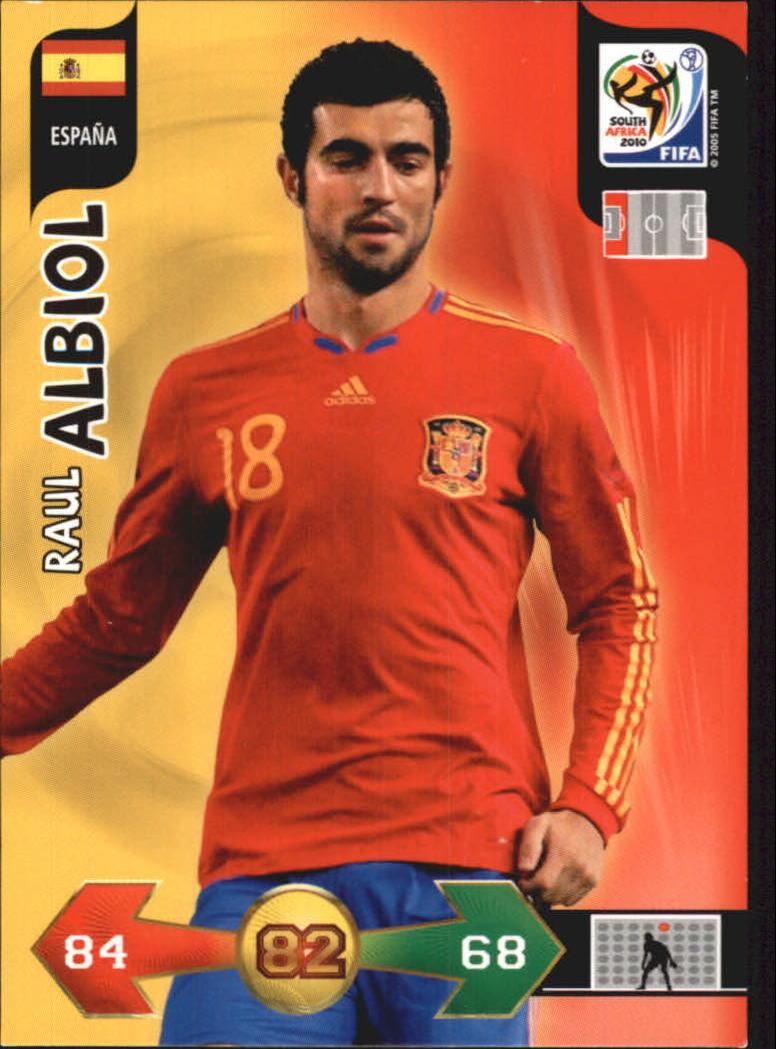 2010 Adrenalyn XL World Cup #7 Raul Albiol UK