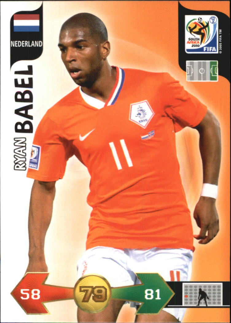 2010 Adrenalyn XL World Cup #16 Ryan Babel UK