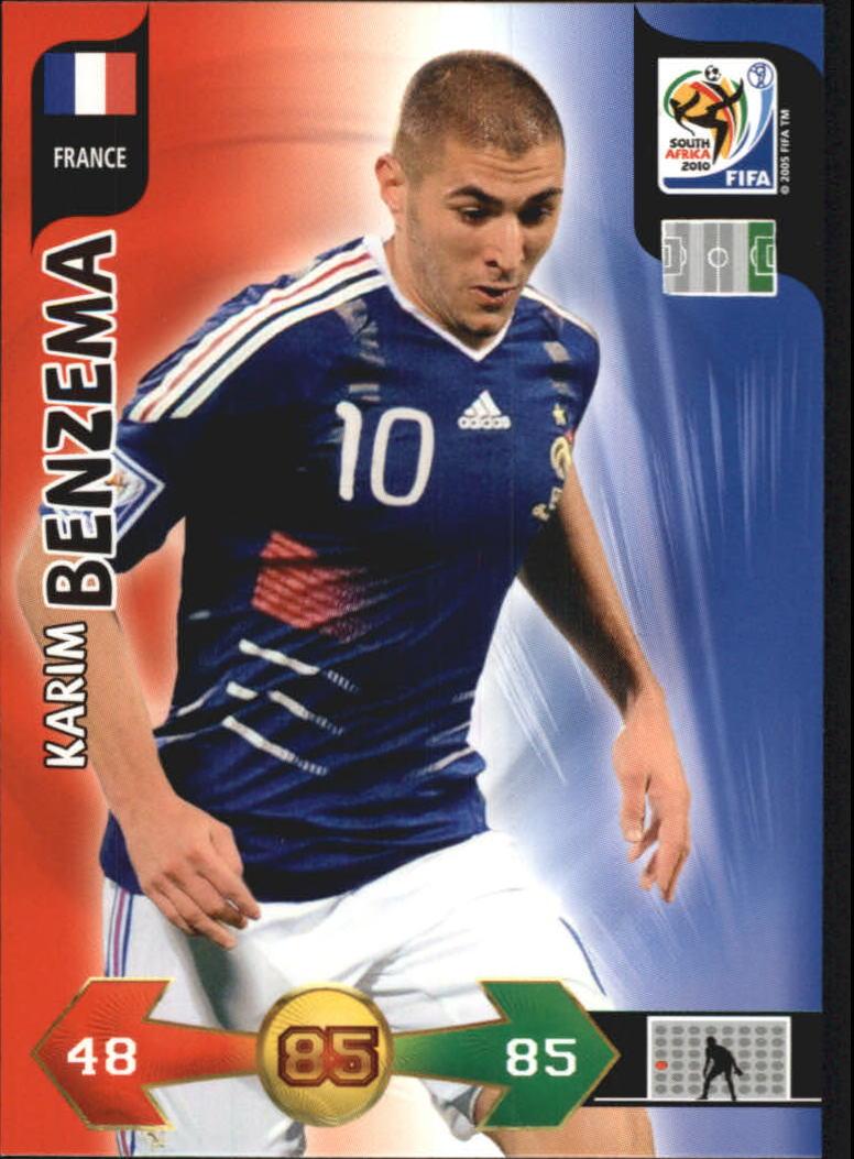 2010 Adrenalyn XL World Cup #24 Karim Benzema