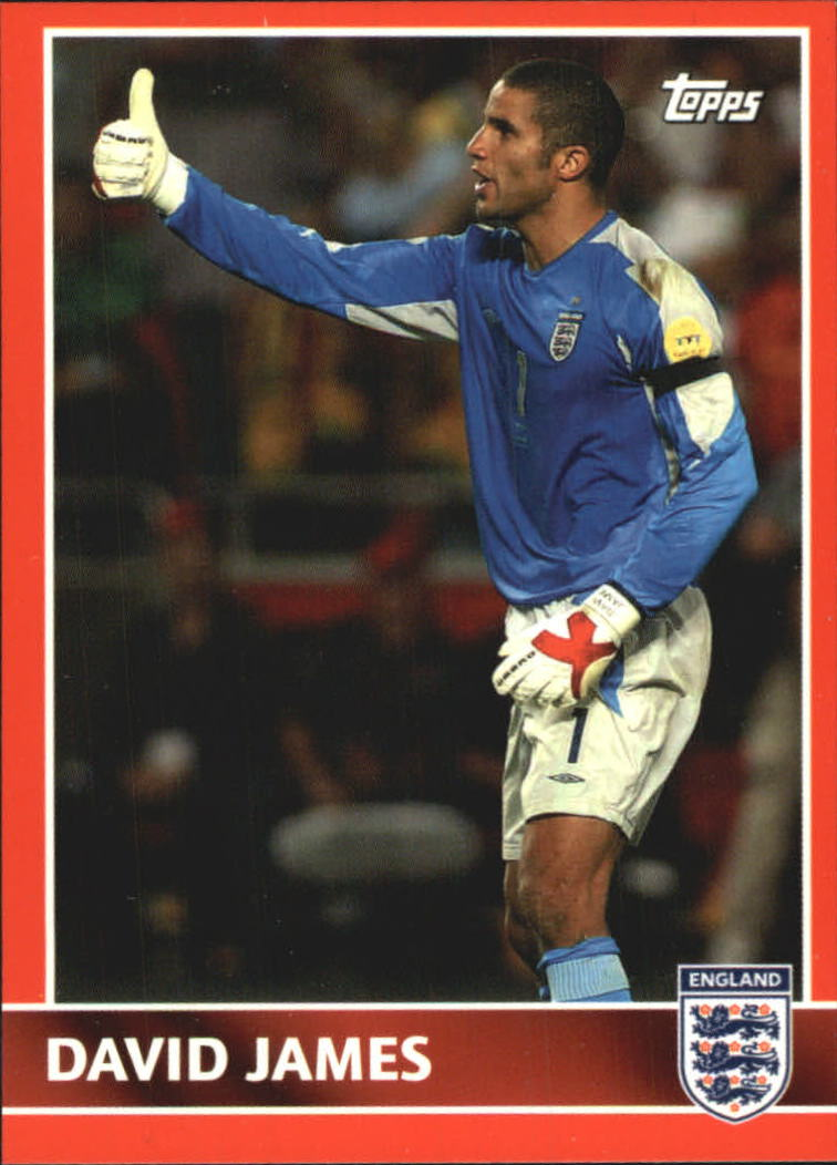 2005 Topps England #7 David James
