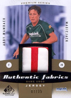2011 SP Game Used Authentic Fabrics Premium Series #AW Abby Wambach