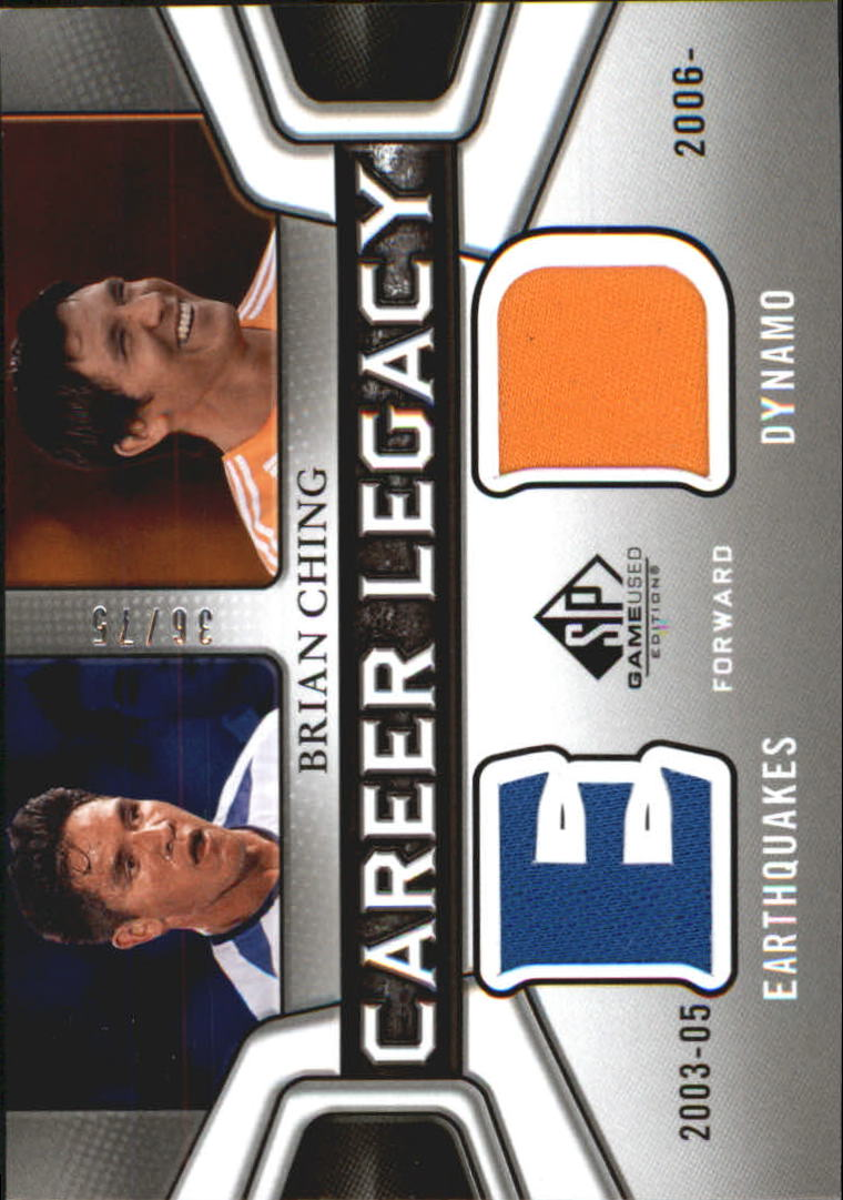 2011 SP Game Used Career Legacy Dual Jersey #BC Brian Ching