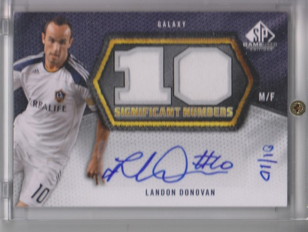 2011 SP Game Used SIGnificant Numbers #LD Landon Donovan/10