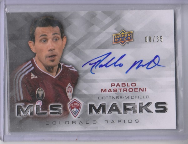 2012 Upper Deck MLS Marks #PM Pablo Mastroeni