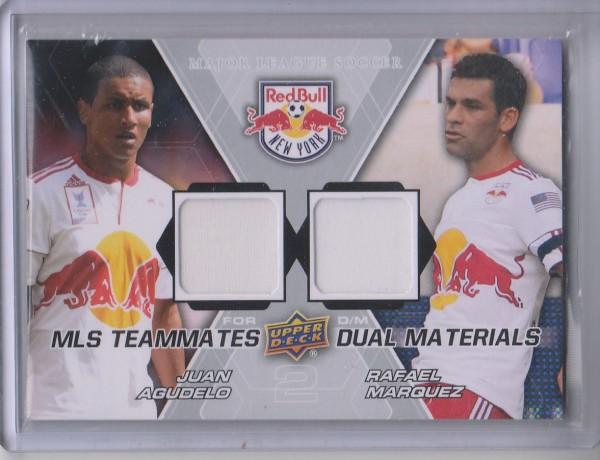 2012 Upper Deck MLS Dual Materials #NY2 Juan Agudelo/Rafael Marquez B