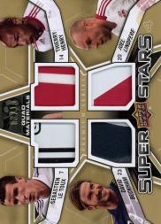 2012 Upper Deck MLS Superstars Quad Materials Premium Series #EUR David Beckham/Sebastien Le Toux/Joel Lindpere/Thierry Henry