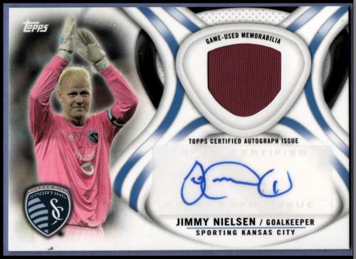 2013 Topps MLS Relic Autographs #JN Jimmy Nielsen