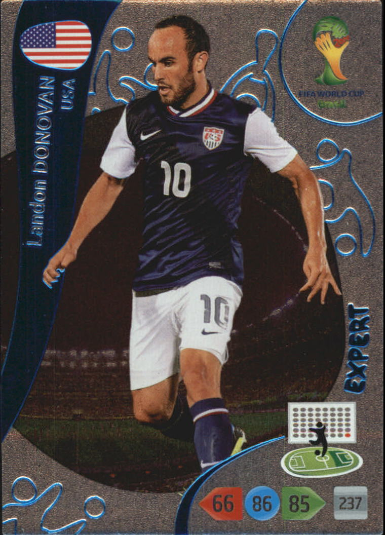 2014 Adrenalyn XL  World Cup Brazil Expert #4 Landon Donovan