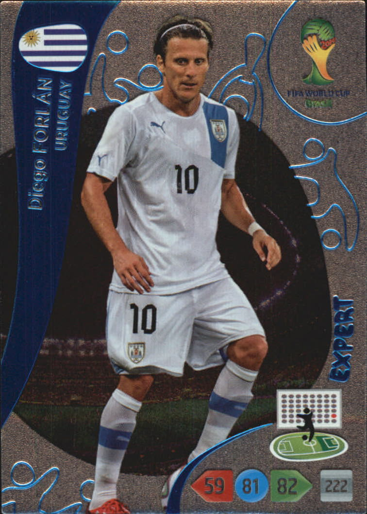2014 Adrenalyn XL  World Cup Brazil Expert #5 Diego Forlan