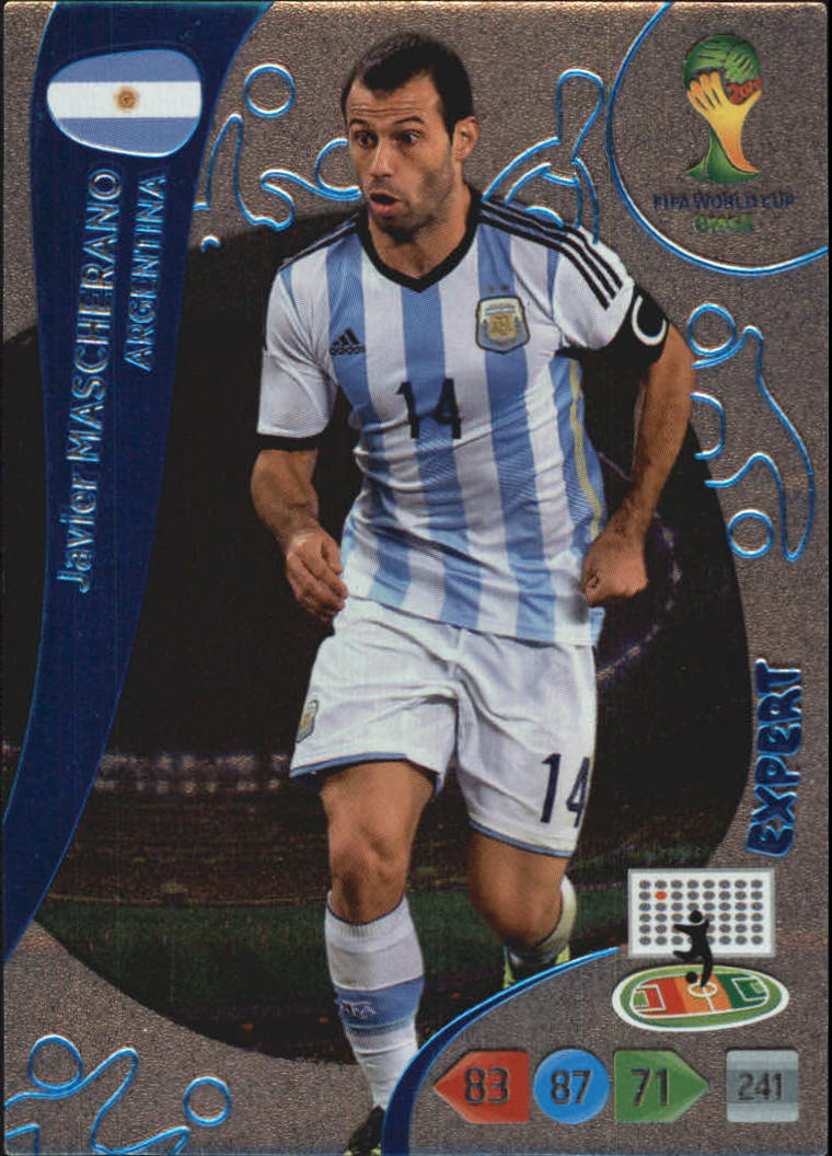 2014 Adrenalyn XL  World Cup Brazil Expert #8 Javier Mascherano